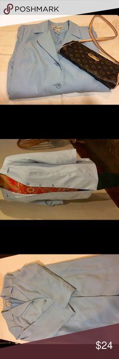 Jessica London Long Blazer Business Attire, is a great garment essential for a capsule closet. Light blue Plus size 16W Jessica London Jackets & Coats Blazers