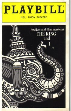 Adventures in Playbills: The King and I - 1996, Neil Simon Theatre ...