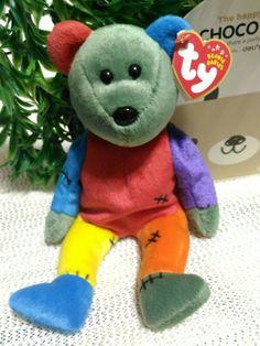 273bd5326a5 TY Beanie Baby - FRANKENTEDDY Bear (Blue   Green Feet)