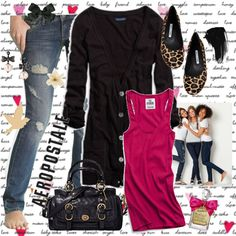 I really like this outfit! Its affortable and stylish. The ripped jeans are cheap and the the tank really adds a spalsh of color to the outfit. Boyfriend Cardigan, Leopard Flats, Street Chic, Ripped Jeans, Style Me, Cute Outfits, Spring Summer, Stylish, Playground