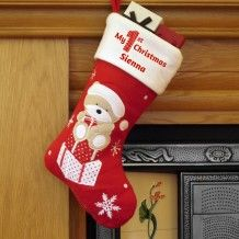 Personalised My 1st Christmas Teddy Stocking