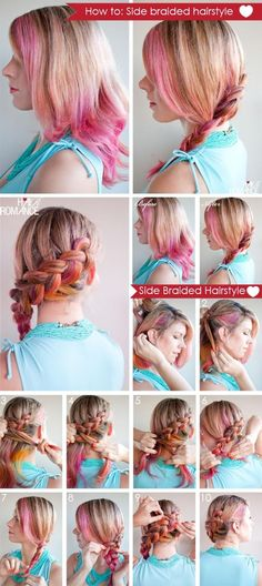 How To Make Side Braided Hairstyle | hairstyles tutorial  I love her hair coloring!