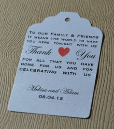 ideas about Wedding Favor Tags on Pinterest Free Printable Wedding ...