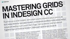 Mastering grids in InDesign CC