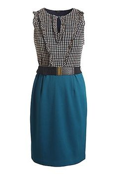 I like the bright teal in this outfit!