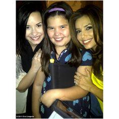 Madison Delagarza Demi Lovato & Eva Longoria ❤ liked on Polyvore