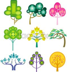 Funny cartoon tree vector