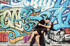 City of angels. Urban e-session. Sweetface Photography. #urban #engagement #photography #fun #couple #sweetfacephotography #ocphotographer #graffiti