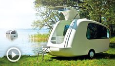 SeaLander, houseboat/camper - The Odorico Pordenone Caravan Expands to Offer Provide Spaciousness (GALLERY) Camping Glamping, Outdoor Camping, Outdoor Gear, Camping Style, Luxury Camping, Outdoor Fun, Outdoor Spaces, Teardrop Camper, Teardrop Trailer