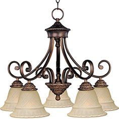 Lowes Pyramid Creations�5-Light Brighton Oil-Rubbed Bronze Chandelier 276.32
