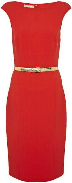 Michael Kors Red Sheath Dress