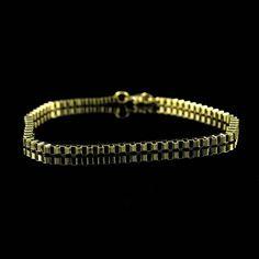 "Steel by Design Steel Goldtone Box Chain 9"" Ankle Bracelet  E749 #SteelbyDesign #Ankle"
