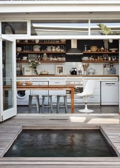 These are the doors I want that will slide back and open onto the deck that faces the outdoor kitchen!
