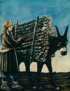 Firewood Seller by Niko Pirosmani (May 5, 1862 - April 9, 1918):  Georgian primitivist painter