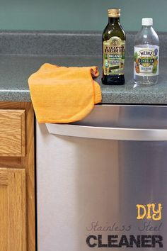 Clean and polish your stainless steel appliances with things you already have at home with this DIY stainless steel cleaner.
