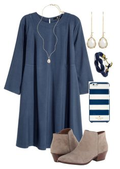 """""""⚓️⚓️⚓️"""" by madelyn-abigail ❤ liked on Polyvore featuring H&M, Sam Edelman, Kendra Scott, Kate Spade, women's clothing, women's fashion, women, female, woman and misses"""
