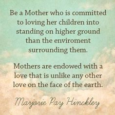 Be The Mother
