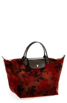 Longchamp 'Fleurs Palace' Velvet Tote available at #Nordstrom