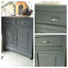cracked finish cabinet