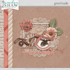 Gratitude mini kit freebie from Amber Shaw