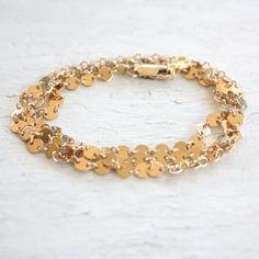 TenThings AUSTIN gold modern wrap bracelet by TenThings on Etsy.