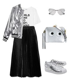 """Untitled #2329"" by n2288851 ❤ liked on Polyvore featuring Zadig & Voltaire, Comme des Garçons GIRL, adidas Originals, Prada, Anya Hindmarch and Sans Souci"