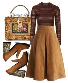 """""""Vintage Girls"""" by tanyaalexander on Polyvore featuring Dolce&Gabbana, Topshop, Chicwish, J.W. Anderson, vintage, women's clothing, women's fashion, women, female and woman"""
