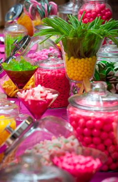 Yellow, green and pink candy bar - Ronald Reagan Building - Photo by Ralph Alswang....cute for a tropical themed birthday party