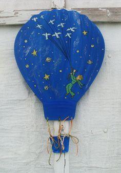 Little Prince ( Planet ) - Wooden Air Balloon Μικρός Πρίγκιπας ( Πλανήτης ) - Ξύλινο Αερόστατο