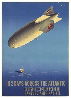 Deutsche Zeppelin-Reederei Hamburg-Amerika Linie poster