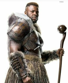 """M'baku...one of the best characters. """"Another word and I will feed you to my children! Just kidding, we're vegetarians. Hahaha."""""""