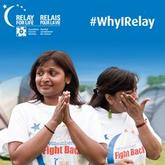 Why do you Relay? Pin your motivation for participating in Relay For Life and use the hashtag #WhyIRelay