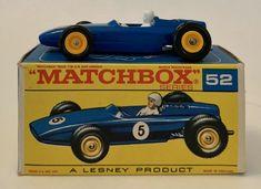 1960s LESNEY MATCHBOX # 52 B.R.M. RACING CAR In Original Box #Matchbox