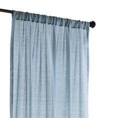 """Quinn Sheer Curtain - Smoke Blue 96"""""""