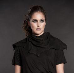 La Baronne Scarf by #theorder at www.velvitvault.com exclusive for Velvit #darkfashion #blackaesthetic #darkaesthetic #allblackeverything #allblack #blackonblack #blvck #velvit #black #lambskin  #blacklambskin #scarf