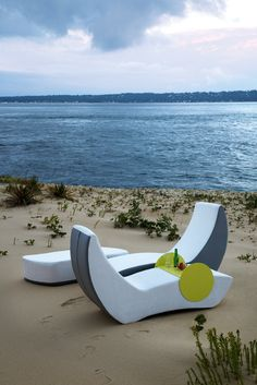 ego Paris - Furniture worthy of a beach lounge but designed with functionality and comfort in mind. These dual lounge chairs are the perfect addition to any backyard or lounge room. Come down to theGALLERY in Calgary and see ego Paris and many other furniture designers featured by Design by Brown. Visit our website at www.designbybrown.ca