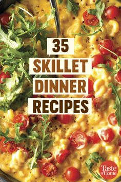 50 Skillet Suppers That Will Revamp Your Dinner Routine - 35 Skillet Dinner Recipes - Cast Iron Skillet Cooking, Iron Skillet Recipes, Cast Iron Recipes, Skillet Dinners, Raw Food Recipes, Cooking Recipes, Healthy Recipes, Pan Cooking, Cooking Gadgets