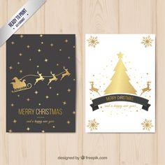 biglietti auguri di natale da stampare gratis con Babbo Natale