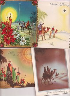 Vintage Christmas cards, The Wisemen