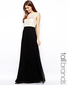 Little Mistress Tall Lace Top Maxi Dress. Perfect for a night out or a wedding. #summer