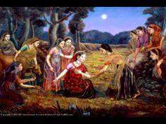 Under the moon light, Radha is showing the gopis that Krishna left her Krishna Leela, Radha Krishna Pictures, Lord Krishna Images, Krishna Radha, Krishna Photos, Radha Rani, Indian Gods, Indian Art, Background Images Wallpapers