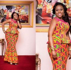 Beautiful Ankara Skirt and Blouse Styles For Wedding. Hello Beautiful Fashionistas Today we bring you 2020 Creative And Beautiful Ankara Skirt and Blouse Styles For Wedding.Scroll below and try them for your next wedding ocassion. African Fashion Ankara, Latest African Fashion Dresses, African Print Dresses, African Print Fashion, Africa Fashion, African Wear, African Attire, African Women, African Dress
