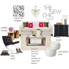 """The New Chic"" room design by Zuniga Interiors on Polyvore"