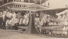 Group on a Boat  Vintage Photograph by PhotosLongForgotten on Etsy