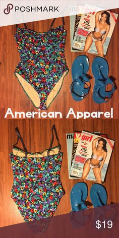f8293a1cf3a 👙Floral American Apparel Bathing Suit MED👙 Floral bathing suit from  American Apparel. Underwire