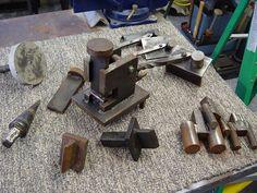 Guillotine fuller, and various bending jigs/tools.