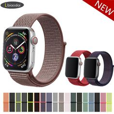 Quick Release Woven Fabric Nylon Bracelet Strap For iWatch. Universal for iwatch series 1 / 2 / 3 Band Strap. Sports Loop Hook Watch Band For Apple Watch Series 3 2 1 Style Magic Sticker Woven Nylon Watch Band. Apple Watch 1, Apple Watch Bands 42mm, Mens Sport Watches, Watches For Men, Apple Watch Accessories, Leather Watch Bands, Watch Brands, Cow Leather, Gq