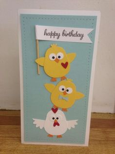 Spring Chicken by jslegge - Cards and Paper Crafts at Splitcoaststampers - using owl builder punch