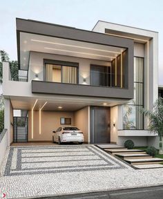Modern Small House Design, Modern Exterior House Designs, Cool House Designs, Exterior Design, House Outside Design, House Front Design, Hill Country Homes, Plans Architecture, Bungalow House Design
