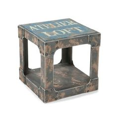 Play Room: Loft Orange Sidetable Moe S Home Collection End Tables Accent Tables Living Room Furniture Blue Side Table, Orange Table, Metal Side Table, Side Tables, Industrial Side Table, Industrial Style, Industrial Design, Industrial Living, Industrial Office